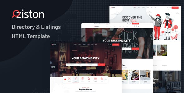 Download Ziston - Directory & Listings HTML Template