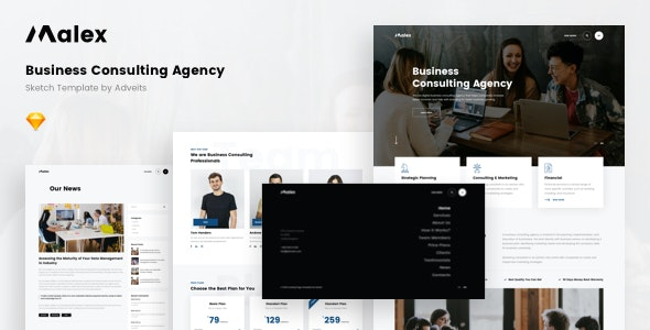 Malex - Business Consulting Agency Sketch Template - Business Corporate