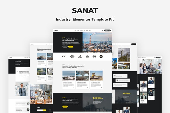 Sanat - Industry Elementor Template Kit - Business & Services Elementor
