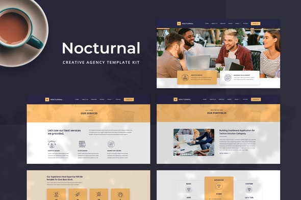 Nocturnal - Creative Agency Elementor Template Kit - Creative & Design Elementor