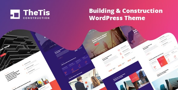 TheTis – Construction & Architecture WordPress Theme - Business Corporate