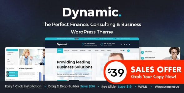 Dynamic - Finance and Consulting Business WordPress Theme - Business Corporate