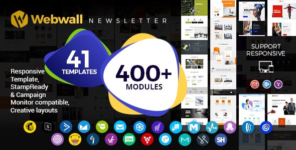Webwall - Multipurpose Responsive Email Template + StampReady & CampaignMonitor compatible files