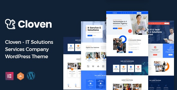 Cloven - IT Solutions Services Company WordPress Theme - Marketing Corporate