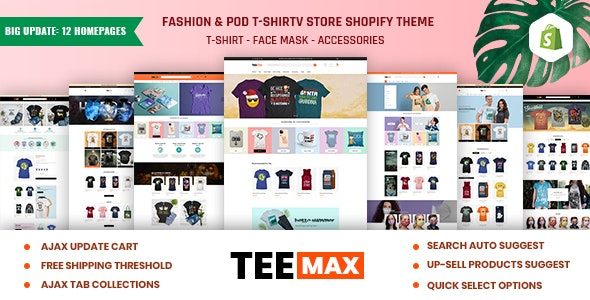 TeeMax | Fashion & POD T-Shirt Store Shopify Theme - Fashion Shopify