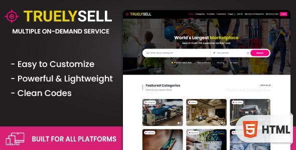 Download Truelysell - Multipurpose Service Marketplace Bootstrap HTML Template