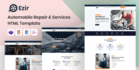Download Ezir - Auto Repair Services HTML Template