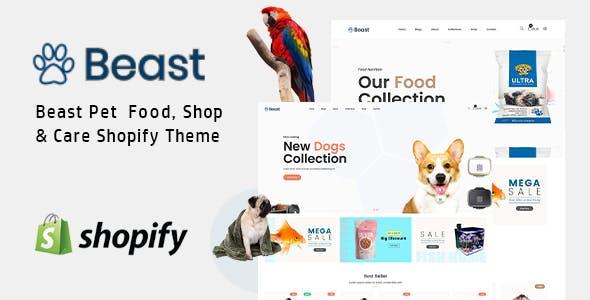 Beast - Pet Sitte Shop Animal Care Responsive Shopify Theme