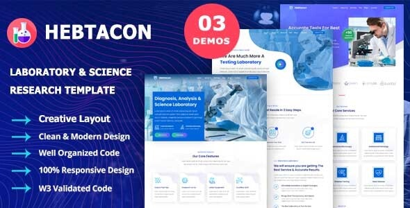 Hebtacon - Science Research & Laboratory Template - Health & Beauty Retail