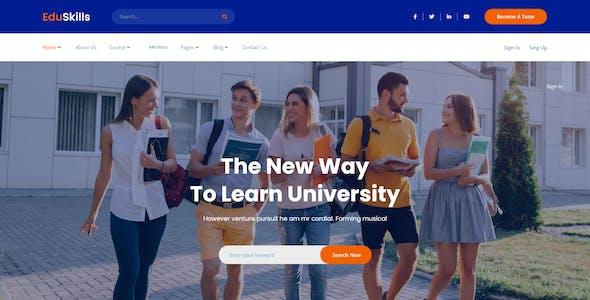 EduSkills - Tutor Online Courses & LMS Multipurpose xd template