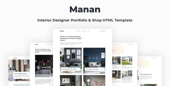 Manan - Interior Designer HTML Template