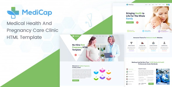 Medicap - Medical Health & Pregnancy Care Clinic HTML Template - Health & Beauty Retail