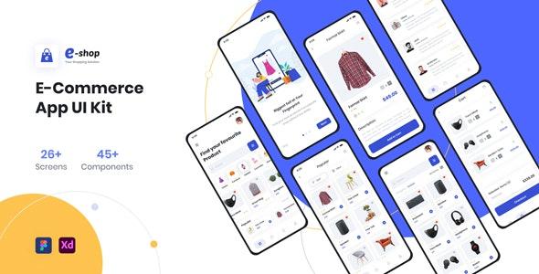 E-Shop Ecommerce App UI Kit - Shopping Retail