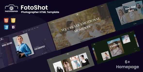Fotoshot - Creative Photographer HTML Template - Photography Creative