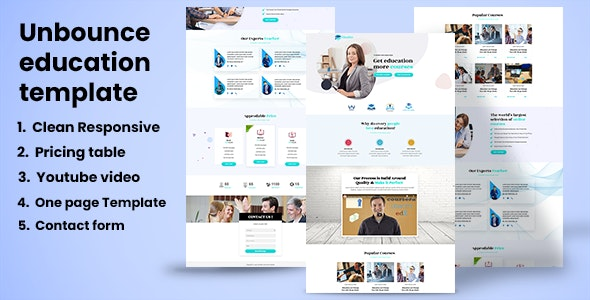 Education - Educational Landing page - Unbounce Landing Pages Marketing