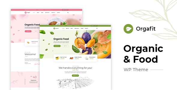 OrgaFit - Organic and Health WordPress Theme - Food Retail