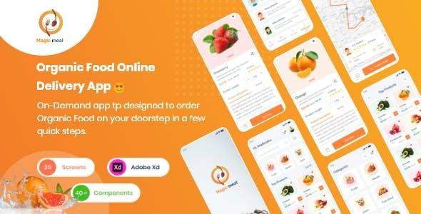 Magic Meal - Organic Food Delivery Application UI kit