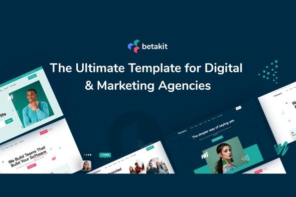 Betakit - Digital & Marketing Agency Elementor Kit - Business & Services Elementor