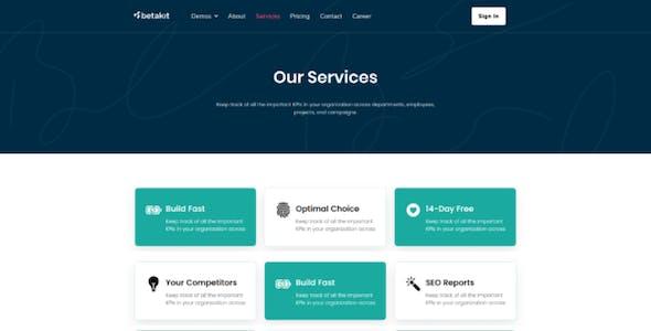 Betakit - Digital & Marketing Agency Elementor Template Kit