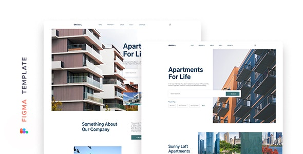 Dexico – Apartment Rent Template for Figma - Miscellaneous Figma