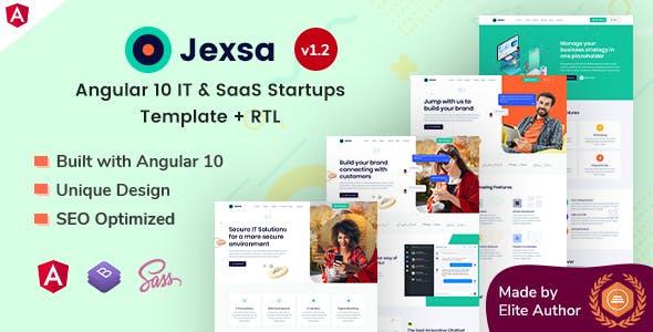 Jexsa - Angular 10 IT & SaaS Startups Template