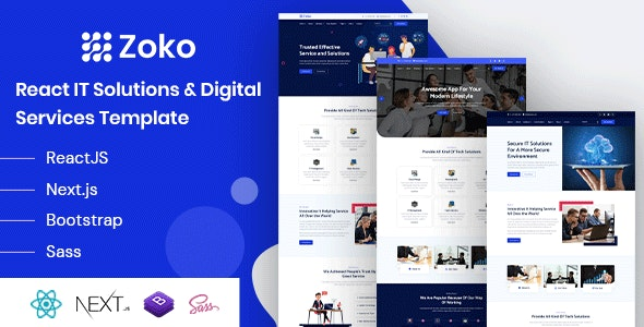 Zoko - React IT Solutions Template - Technology Site Templates