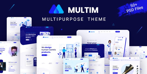 Multim - Multi-Purpose PSD Template - Business Corporate