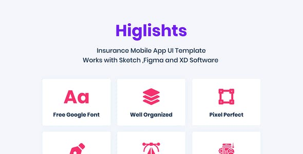 Insurance Mobile App UI Kit for Adobe XD