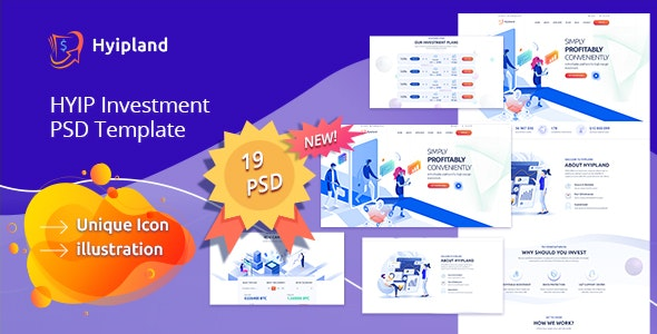 Hyipland - HYIP Investment PSD Template - Business Corporate