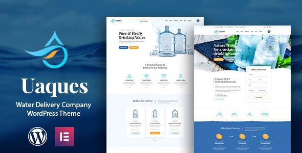 Uaques - Drinking Water Delivery WordPress Theme + RTL - Food Retail