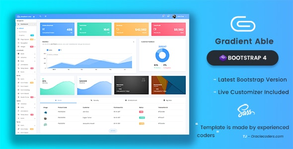 Gradient Able Bootstrap 4 Admin Template - Admin Templates Site Templates
