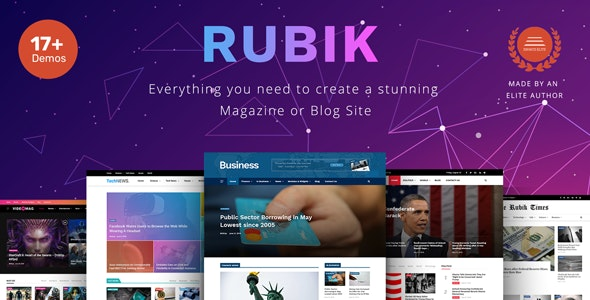 Rubik - A Perfect Theme for Blog Magazine Website - News / Editorial Blog / Magazine
