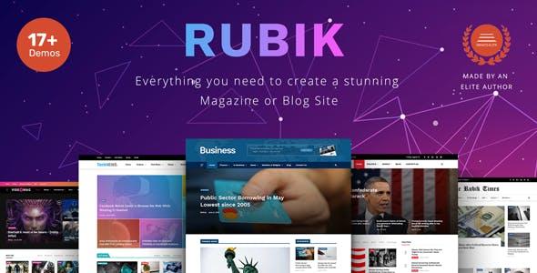Rubik - A Perfect Theme for Blog Magazine Website
