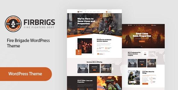 Firbrigs - Fire Department WordPress Theme - Nonprofit WordPress