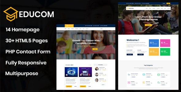 Educom - Education and LMS Template - Business Corporate