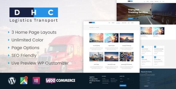 DHC   Logistics Transportation WordPress Theme - Business Corporate
