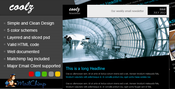 Coolz Newsletter Template - Email Templates Marketing
