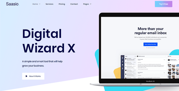 Saasio - Saas & Startup Elementor Template Kit