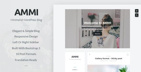 Ammi - Minimalist WordPress Blog - Personal Blog / Magazine