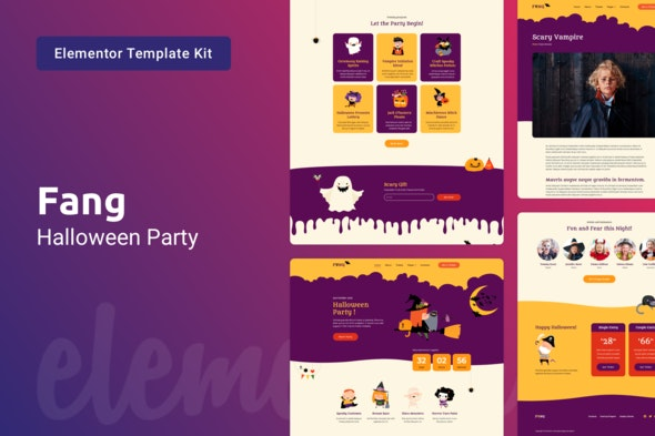 Fang — Halloween Party Template Kit for Elementor - Events & Entertainment Elementor