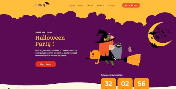 Fang — Halloween Party Elementor Template Kit
