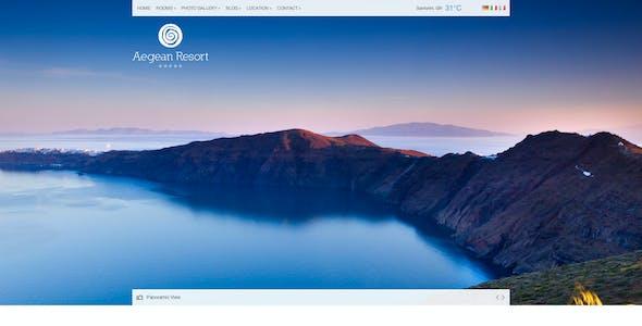 Aegean Resort - Responsive Hotel Template