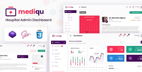 Mediqu - Hospital Admin Dashboard Template - Admin Templates Site Templates