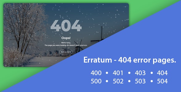 Erratum - 404 Error Pages - 404 Pages Specialty Pages