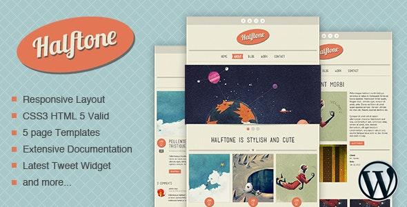 Halftone - WordPress Theme - Portfolio Creative