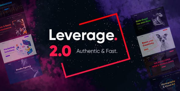 Leverage - Creative Agency & Portfolio WordPress Theme