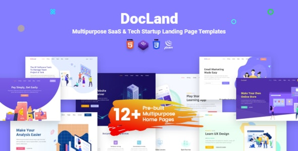 Docland | Multipurpose SaaS & Tech Startup Website Template - Software Technology