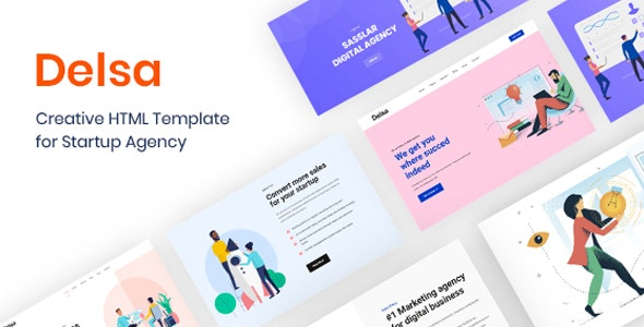 Delsa - Creative HTML Template for Startup Agency - Software Technology