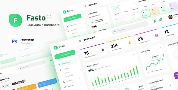Fasto - Saas Admin Dashboard UI Design Template PSD