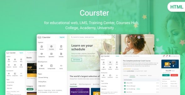 Courster - Educational Platform and Learning System Template - Corporate Site Templates